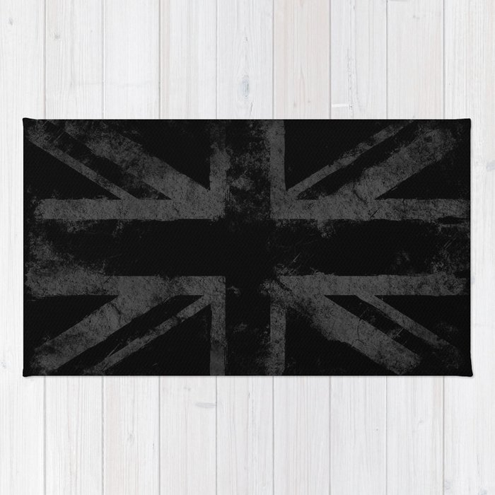 Grey Grunge UK flag Rug