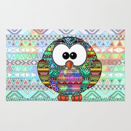 Owl aztec tribal best design  Rug