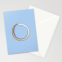 Ouroboros Unicorn Rainbow Vomit Stationery Cards