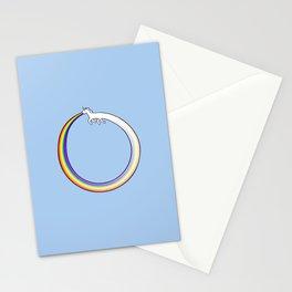 Ouroboros Unicorn Rainbow Vomit Stationery Cards