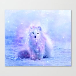 Arctic iceland fox Canvas Print