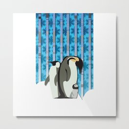 Emperor Penguins From The South Sea Metal Print