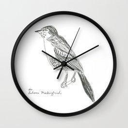 bahama mockingbird  Wall Clock