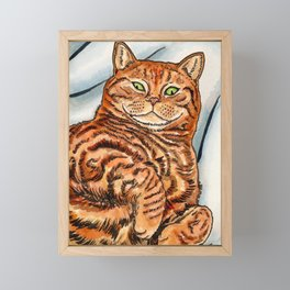 Ginger Cat Framed Mini Art Print