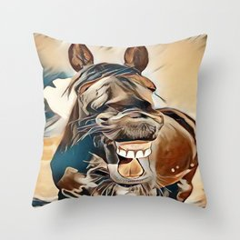 Laughing Jack Throw Pillow