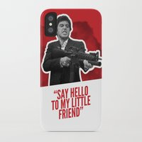 scarface iPhone & iPod Cases featuring Badass 80's Action Movie Quotes - Scarface by Casa del Kables