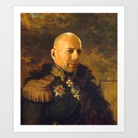 replaceface Art Prints featuring Bruce Willis - replaceface by replaceface