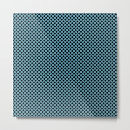 Hippie Blue and Black Polka Dots Metal Print