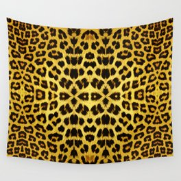 Leopard Print - Gold Wall Tapestry
