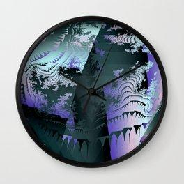 Satin Fragments Wall Clock