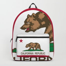 California flag, High Quality Authentic Backpack