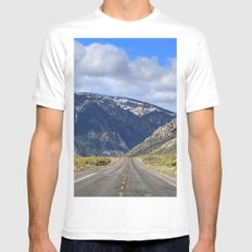 Hills Ahead MEDIUM Mens Fitted Tee White
