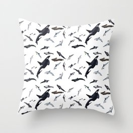 Dolphins all around Throw Pillow