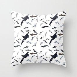 Dolphins all around Throw Pillow