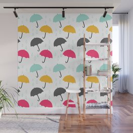 Umbrellas Wall Mural