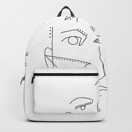 Abstract Faces Backpack