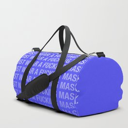 Just Wear A F*cking Mask in Electric Blue Duffle Bag