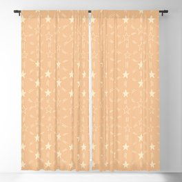 Stars and Stripes in Soft Orange Blackout Curtain