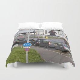 London Taxis Heathrow Airport Duvet Cover