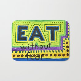 Art therapy for your wall: Eat Without Fear Bath Mat