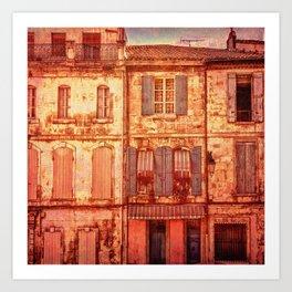 The Old Neighborhood, Rustic Buildings Art Print