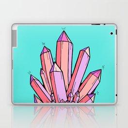 Crystal Cluster- Pink & Mint Laptop & iPad Skin