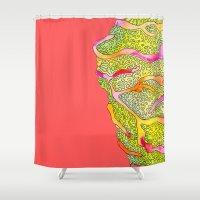 seashell Shower Curtains featuring Seashell by Lupimazz