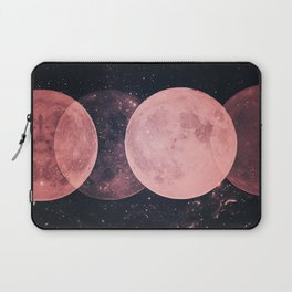 Pink Moon Phases Laptop Sleeve
