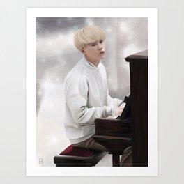 Suga - Piano - Bts Art Print