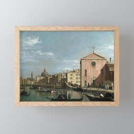 Venice, The Grand Canal facing Santa Croce by Follower of Canaletto Framed Mini Art Print