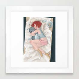Cuddles Framed Art Print