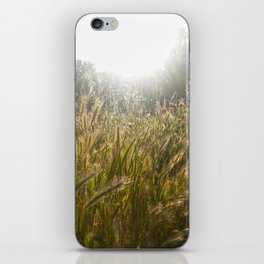 Wheat and poppies iPhone Skin