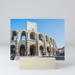 Foreshortening in the historical town of Arles, southern France Mini Art Print