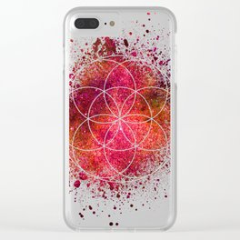 Seed of Life Sacred Geometry Clear iPhone Case