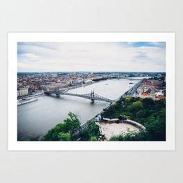 Liberty Bridge Art Print