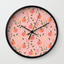 Peachy pattern Wall Clock