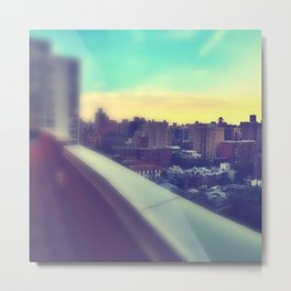 Pastel City Triptych Left Metal Print