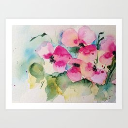 watercolor bouquet Art Print