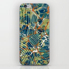 Old Marbled Paper 05 iPhone Skin