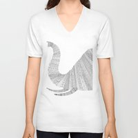 elephant V-neck T-shirts featuring Elephant by Florent Bodart / Speakerine