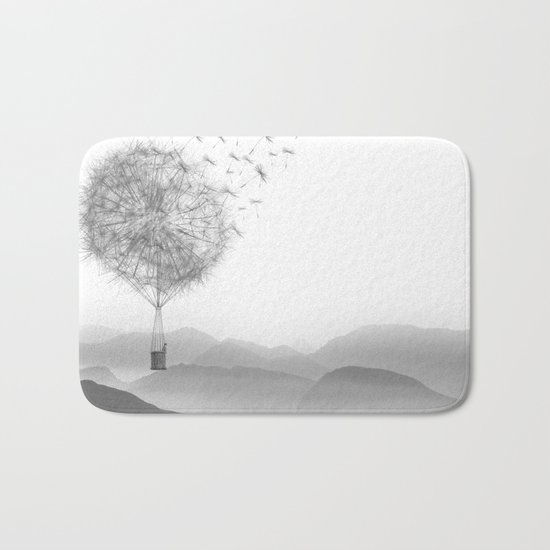 Dandelion Sketch Bath Mat