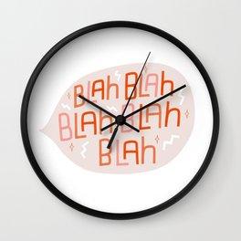 Blah Blah Wall Clock