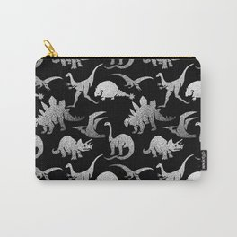 Black and White Dinos Carry-All Pouch