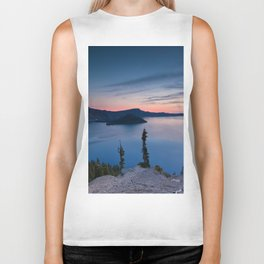 Sunrise At Crater Lake Biker Tank