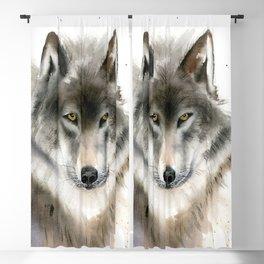 Wolf portrait Blackout Curtain