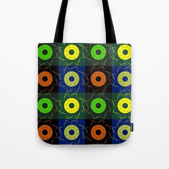 Floral squares Tote Bag