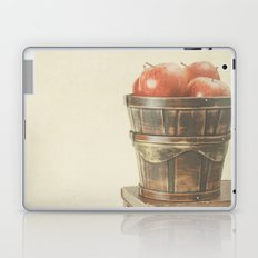 Books and Apples on textured background (Vintage Still Life Photography)  Laptop & iPad Skin