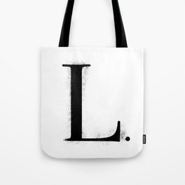 L. - Distressed Initial Tote Bag