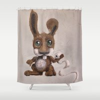 bunny Shower Curtains featuring bunny by Vern Kittler