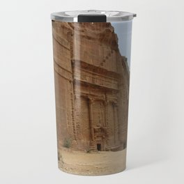 Rock Temples of Petra, facades, Jordan Travel Mug